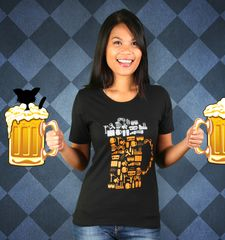 Damen T-Shirt Beer