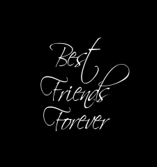 T-Shirt BFF Best Friends Forever Scripted