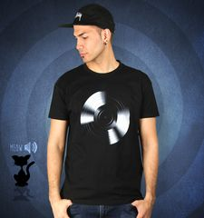 Herren T-Shirt Black Vinyl For A Black Tee