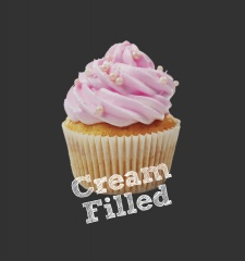 T-Shirt Cream FIlled Cupcakes