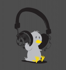 T-Shirt Headphone Tweety