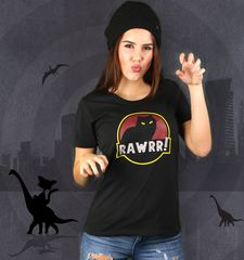 Damen T-Shirt Jurassic Cat