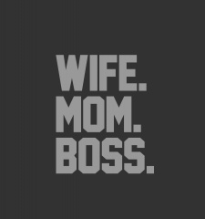 T-Shirt Respect The Authority - Wife, Mom & Boss