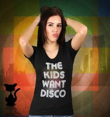 Damen T-Shirt The Kids Want Disco