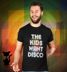 Herren T-Shirt The Kids Want Disco