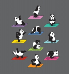 T-Shirt The Panda Yoga
