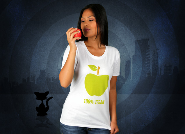 Damen T-Shirt 100% Vegan