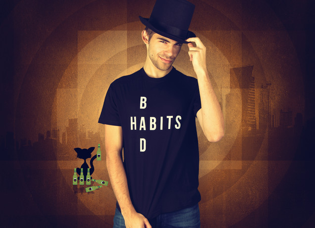 Herren T-Shirt Bad Habits