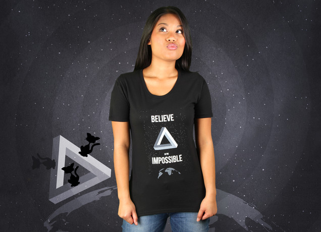 Damen T-Shirt Believe In The Impossible