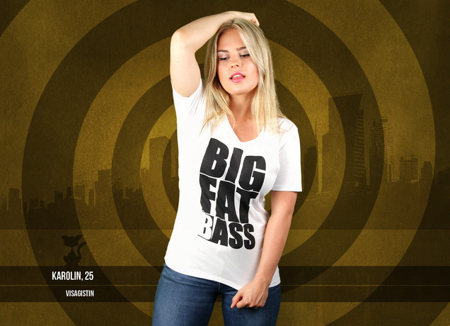 Damen T-Shirt Big Fat (B)ass