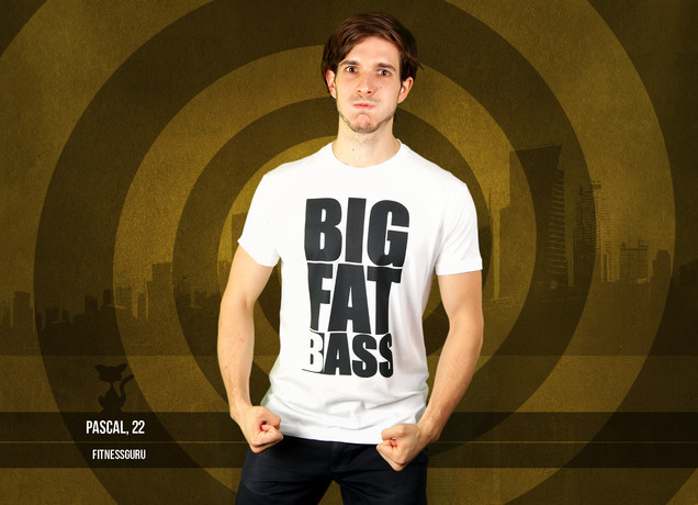 Herren T-Shirt Big Fat (B)ass