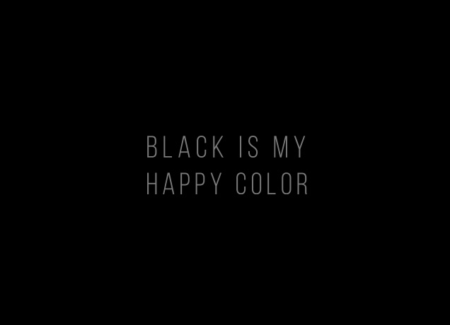 black is my happy color designer fun t shirts likoli. Black Bedroom Furniture Sets. Home Design Ideas