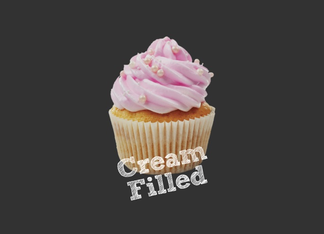 Design Cream FIlled Cupcakes