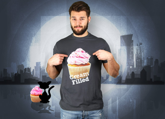 Herren T-Shirt Cream FIlled Cupcakes