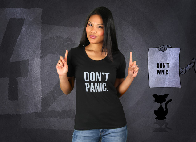 Damen T-Shirt Don't Panic