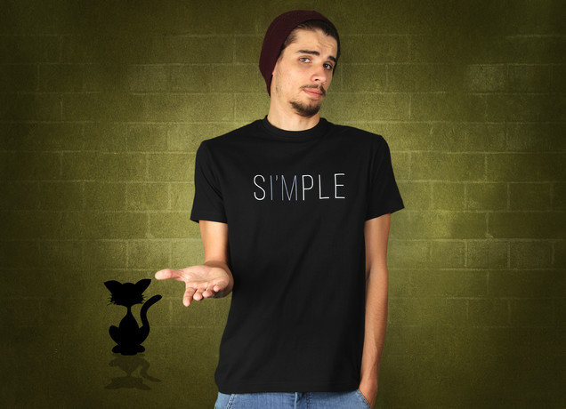 Einfach Simple T-Shirt