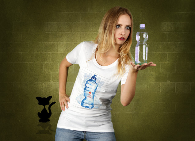 Damen T-Shirt Epic Watter Bottle Flip Champ