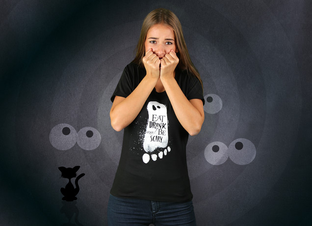 Damen T-Shirt Halloween Be Scary