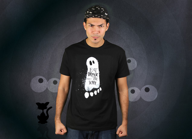 Herren T-Shirt Halloween Be Scary