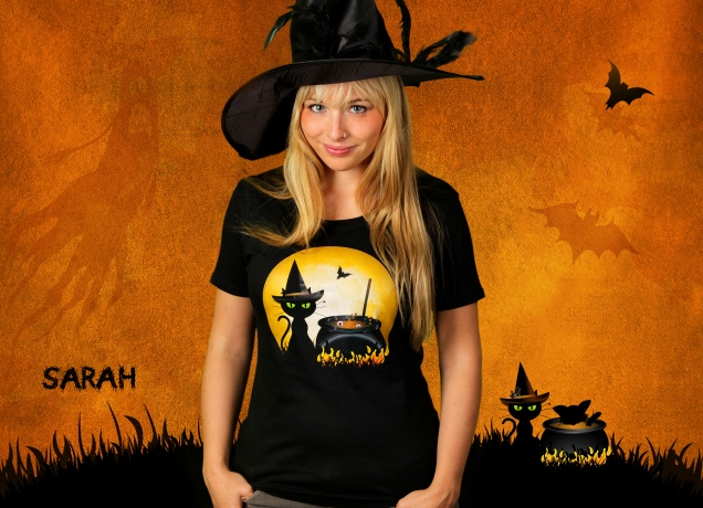 Damen T-Shirt Halloween Cooking - Lustiges Halloween Kostüm