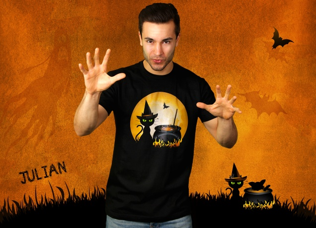 Herren T-Shirt Halloween Cooking - Lustiges Halloween Kostüm