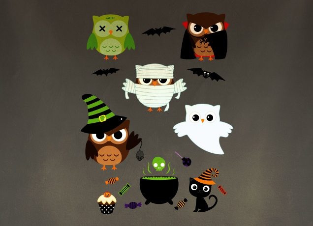 Design Halloween Owls
