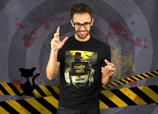 Herren T-Shirt Halloween Party