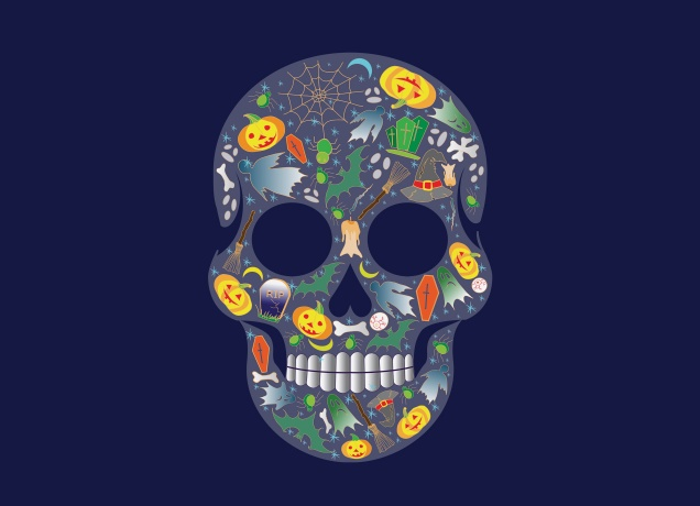 T-Shirt Halloween Scull