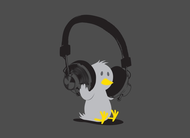 Design Headphone Tweety
