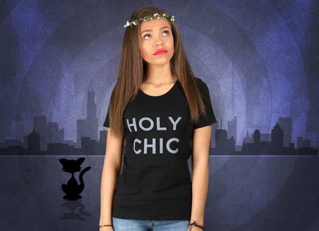 Damen T-Shirt Holy Chic