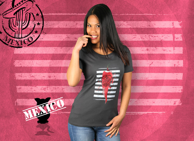 Damen T-Shirt Hot Like Mexico