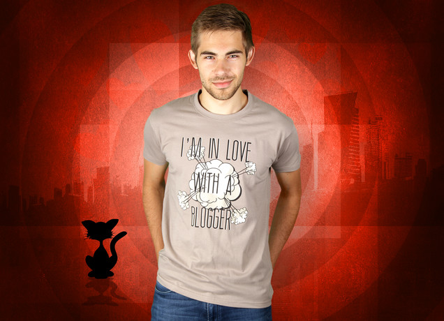Herren T-Shirt I'm In Love With A Blogger