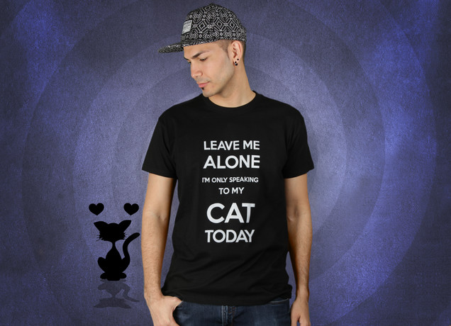 Herren T-Shirt I'm Only Speaking To My Cat Today