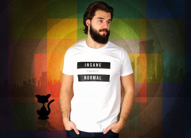 Herren T-Shirt Insane Equals Normal