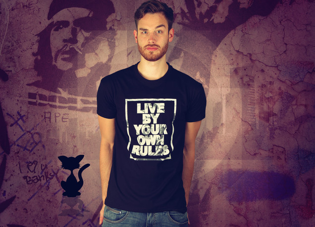 Herren T-Shirt Live By Your Own Rules