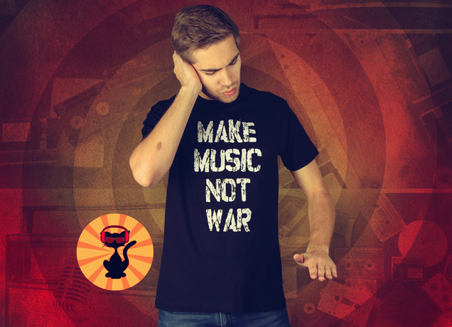 Herren T-Shirt Make Music Not War