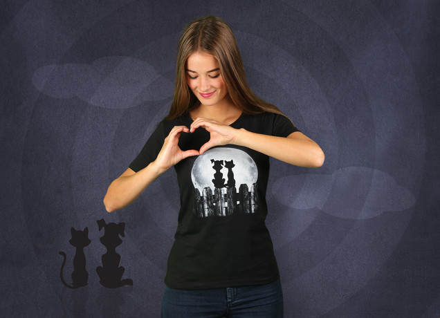 Damen T-Shirt Moonlight Romance