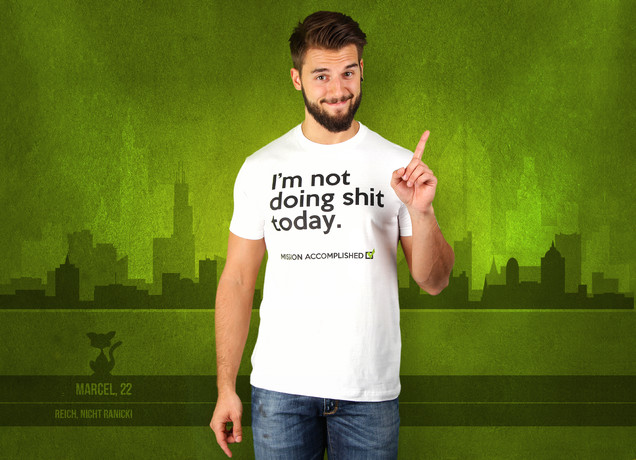 Herren T-Shirt No Shit Today