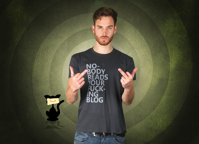 Nobody Reads Your Fucking Blog T-Shirt