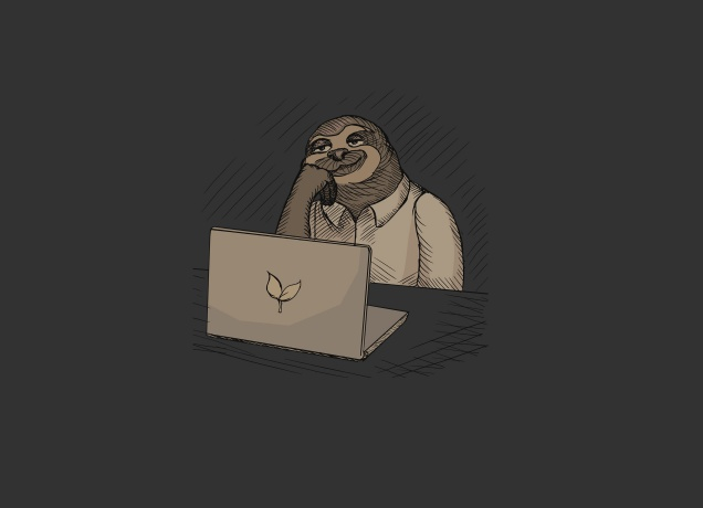 T-Shirt Office Sloth