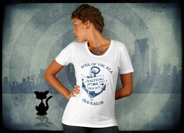 Damen T-Shirt Old Sailors T Shirt