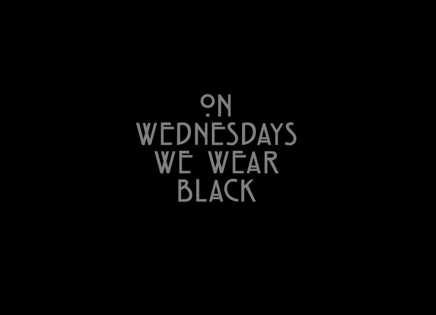 T-Shirt On Wednesdays We Wear Black