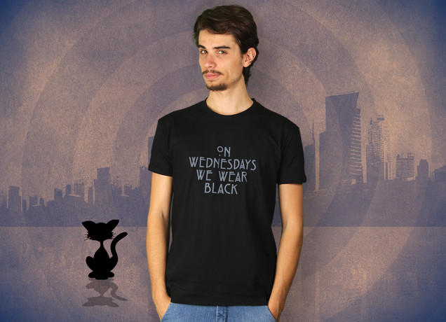 On Wednesdays We Wear Black T-Shirt