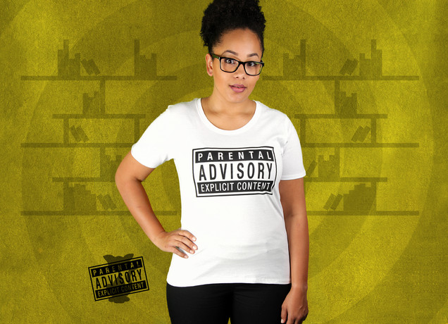 Damen T-Shirt Parental Advisory