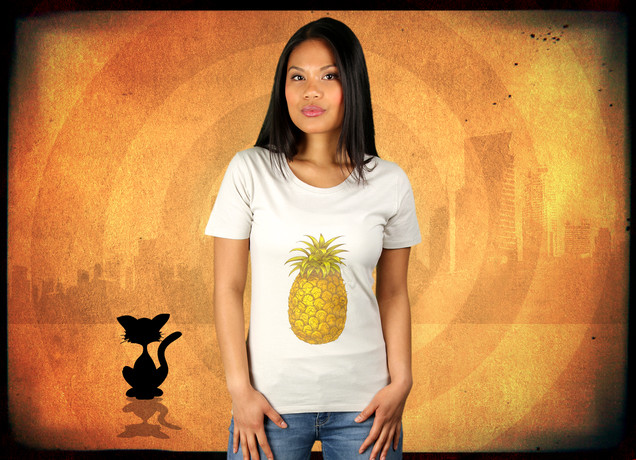 Damen T-Shirt Pineapple, Here I Come