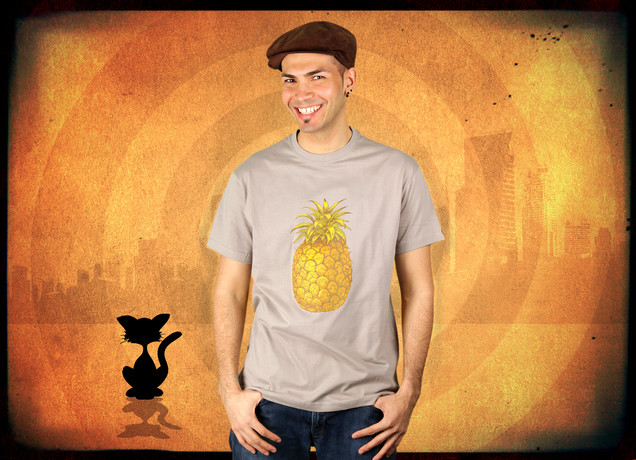 Herren T-Shirt Pineapple, Here I Come
