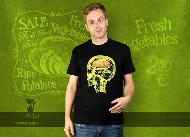 Herren T-Shirt Potato In The Brain