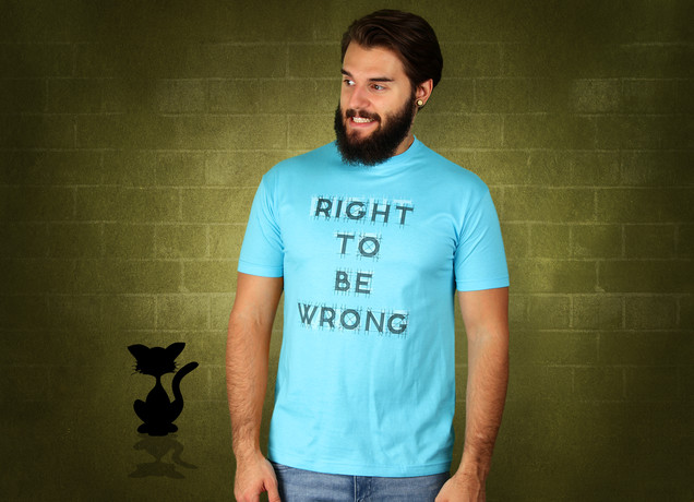 Herren T-Shirt Right To Be Wrong