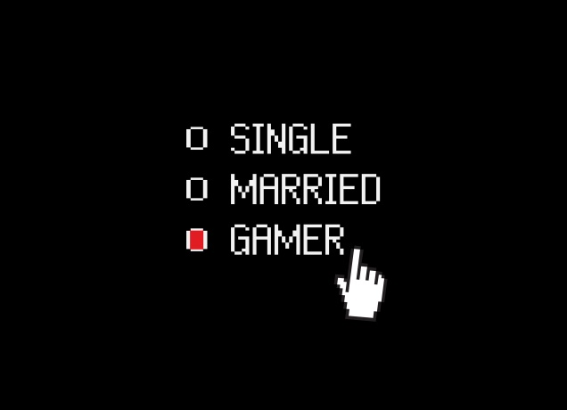 T-Shirt Single Married Gamer