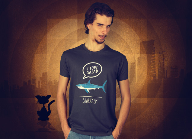 Herren T-Shirt Some Vegan Sharkasm